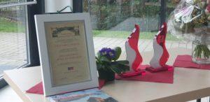 """Der Preis """"Stolz auf Remscheid"""" wurde beim Neujahrsempfang 2020 der SPD Remscheid an Ursula Durach und Sigmund Freund verliehen. Foto: Sascha von Gerishem"""